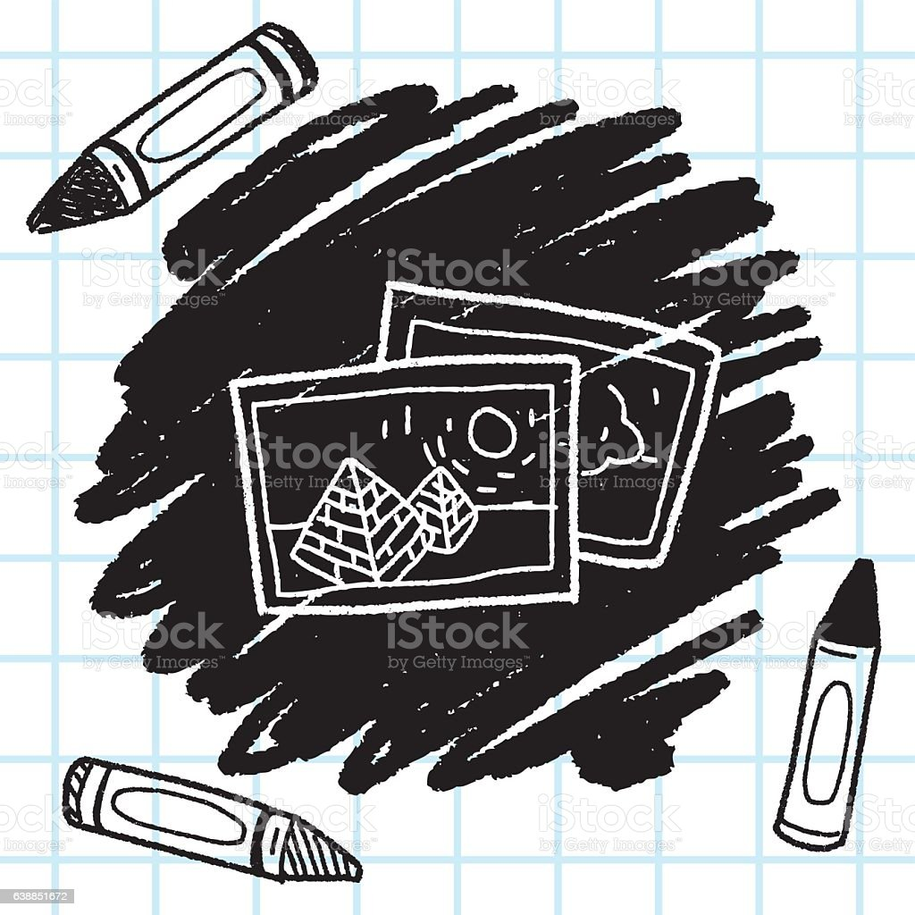 travel pictrue doodle vector art illustration