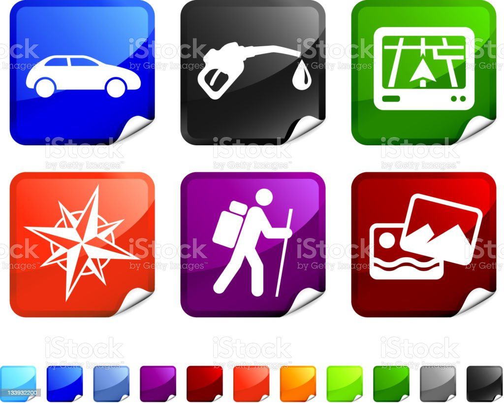 travel royalty free vector icon set stickers royalty-free stock vector art