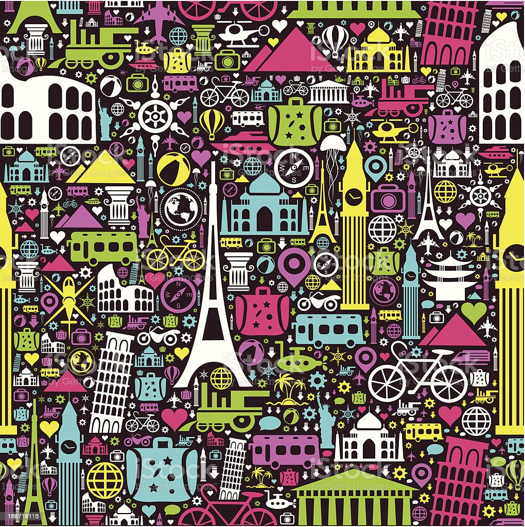 Travel Seamless Pattern royalty-free stock vector art