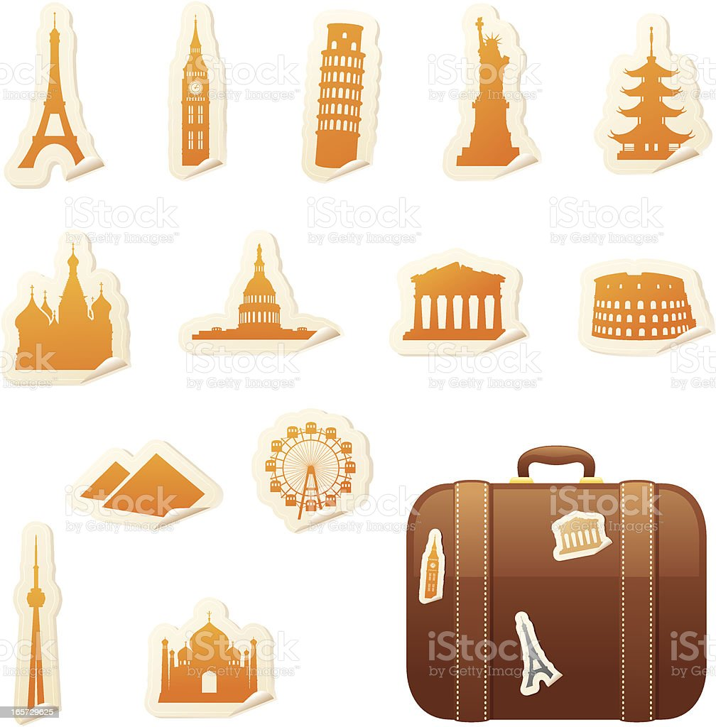 Travel Stickers royalty-free stock vector art