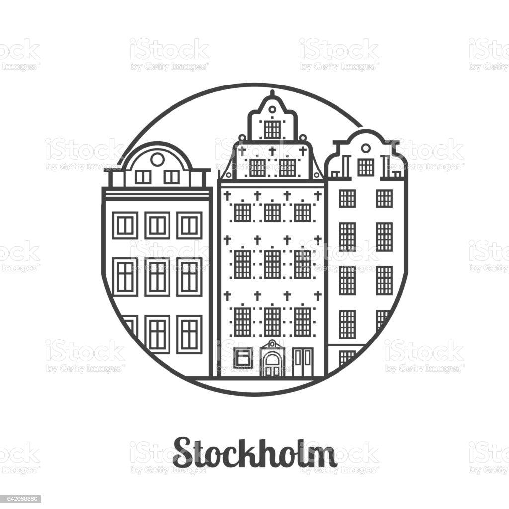 Travel Stockholm Icon vector art illustration