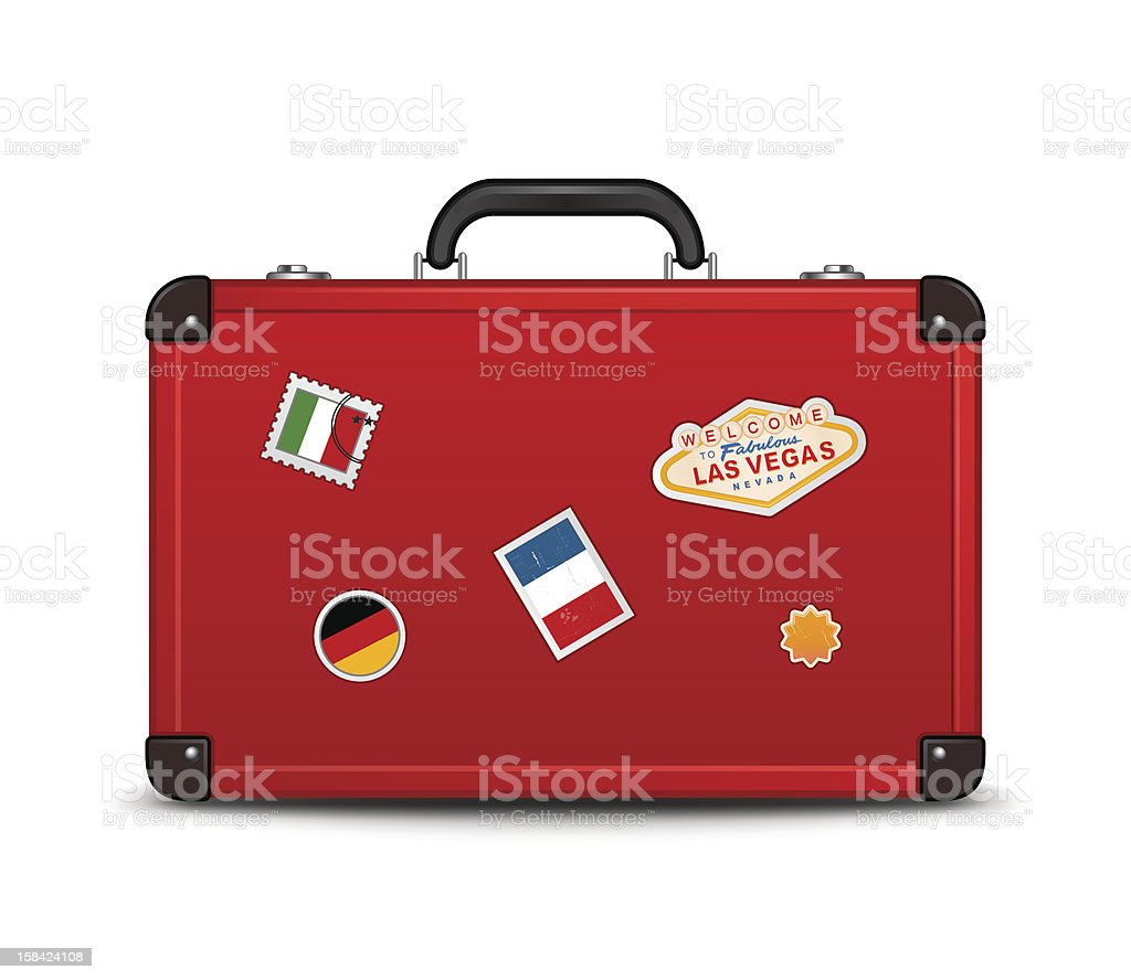 Travel Suitcase Icon vector art illustration