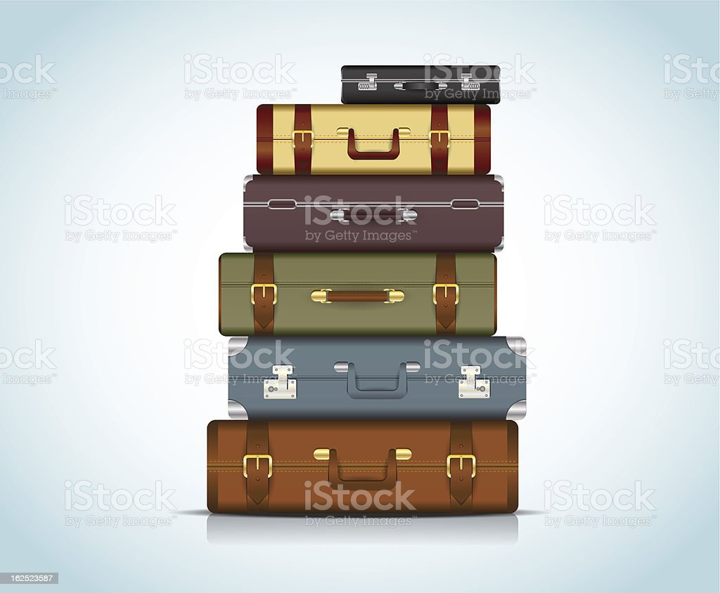 Travel Suitcases vector art illustration