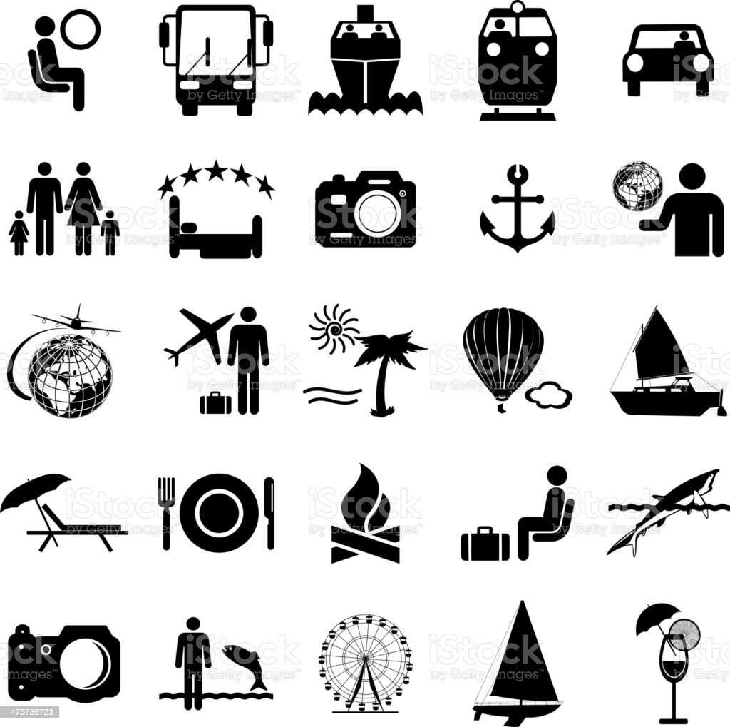 Travel symbols. vector art illustration