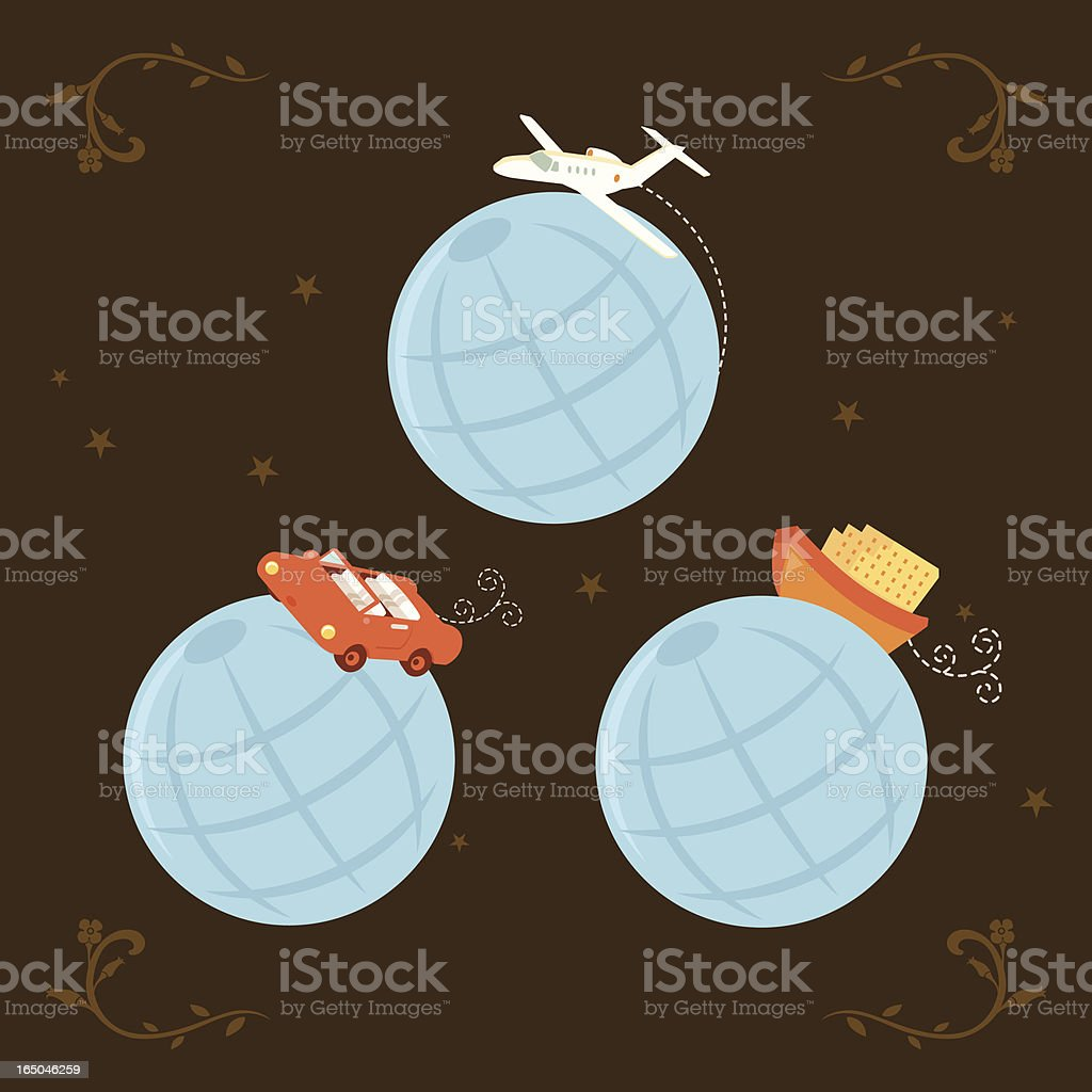 Travel the world! royalty-free stock vector art