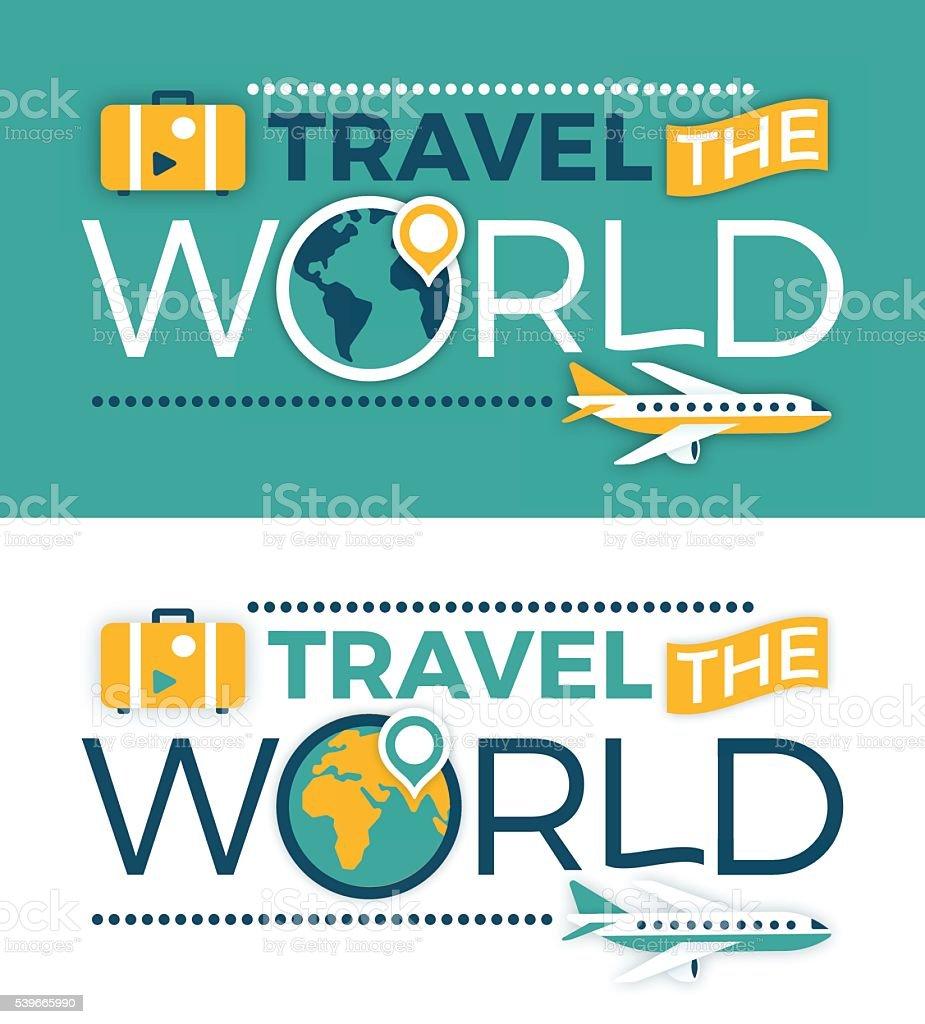 Travel the World vector art illustration