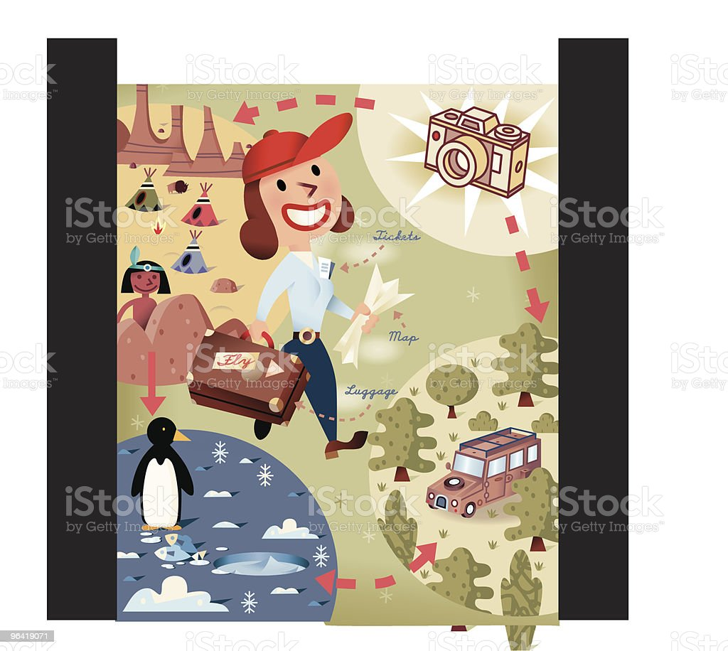 Travel Time! royalty-free stock vector art