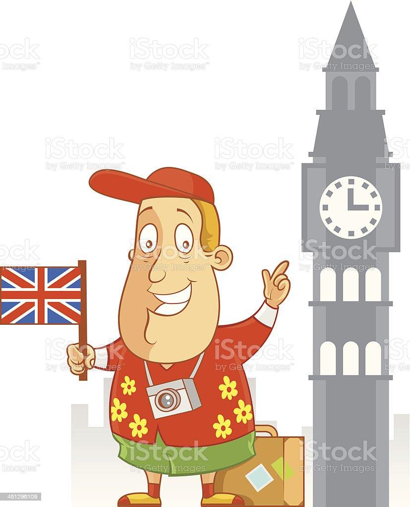 Travel to England vector art illustration