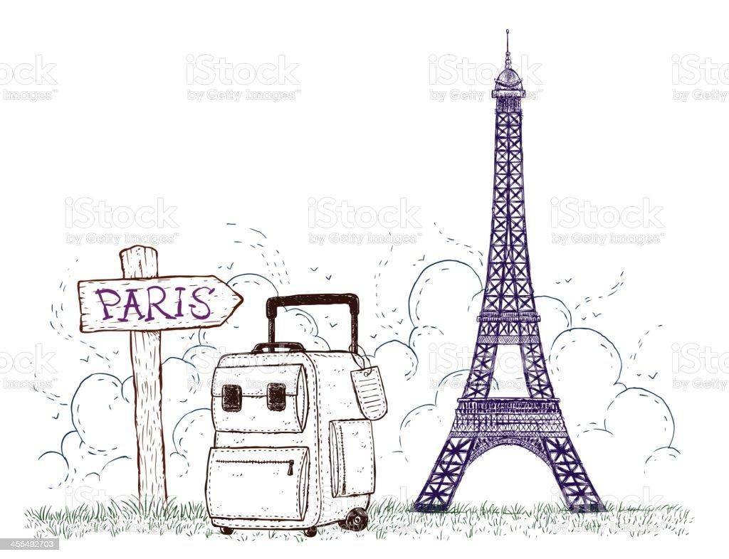 Travel to Paris royalty-free stock vector art