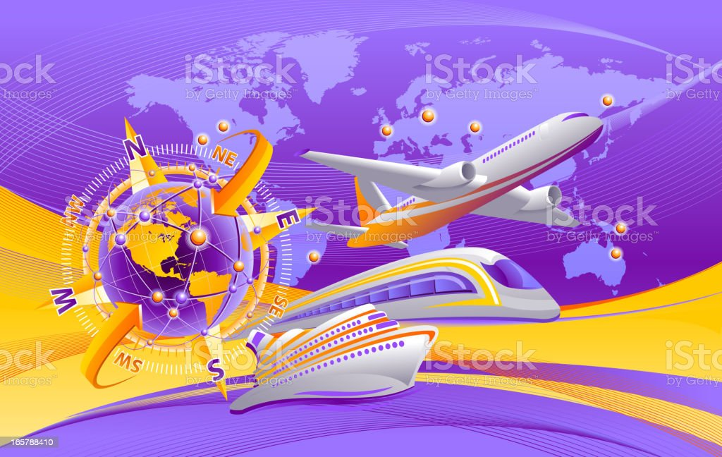 Travel transportation royalty-free stock vector art