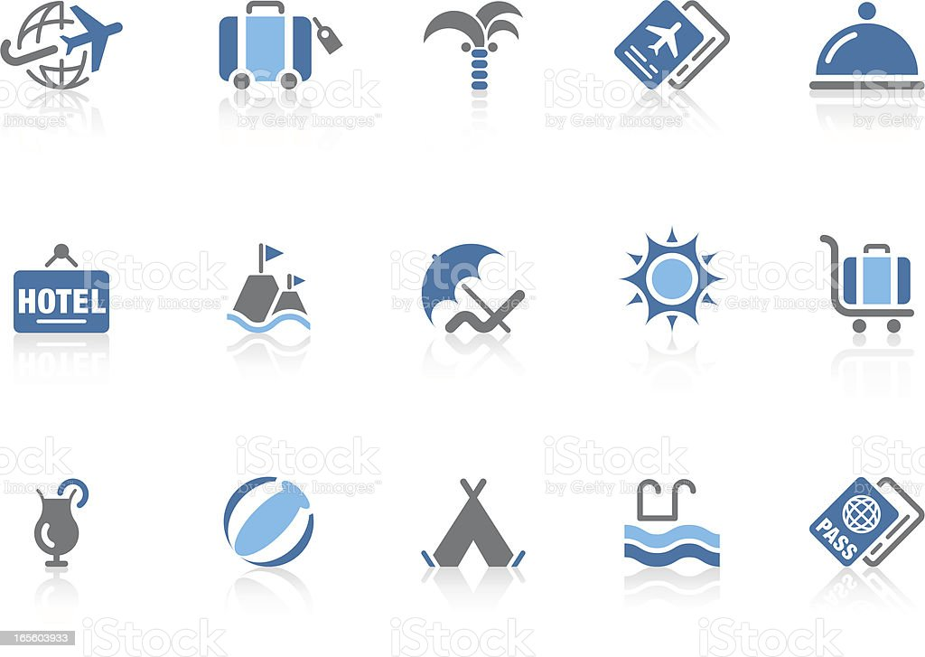 Travel & Vacation icons | Azur series royalty-free stock vector art