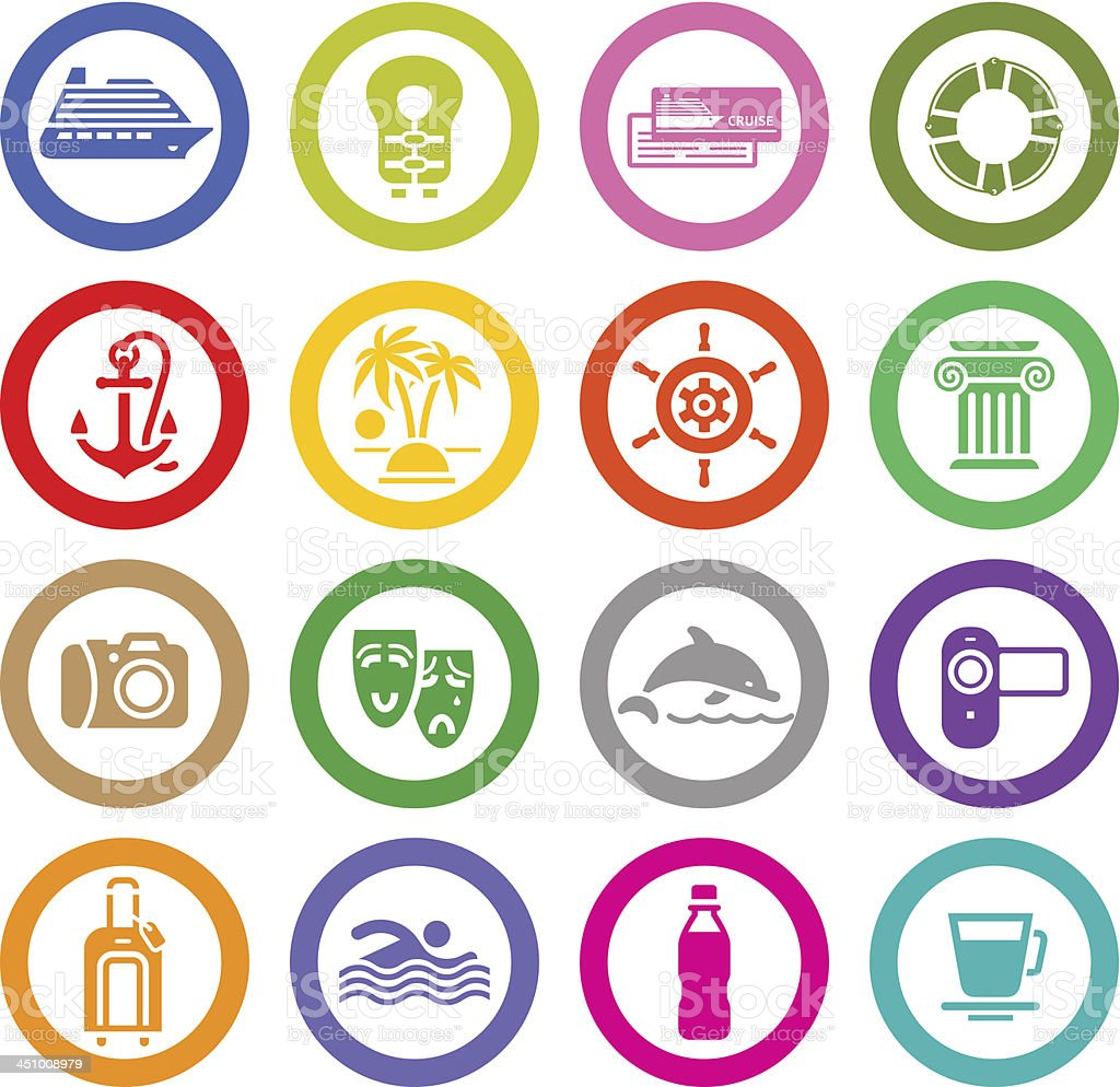 Поездок, отдыха набор иконок, & отдыха. Спорт и туризм. векторная иллюстрация