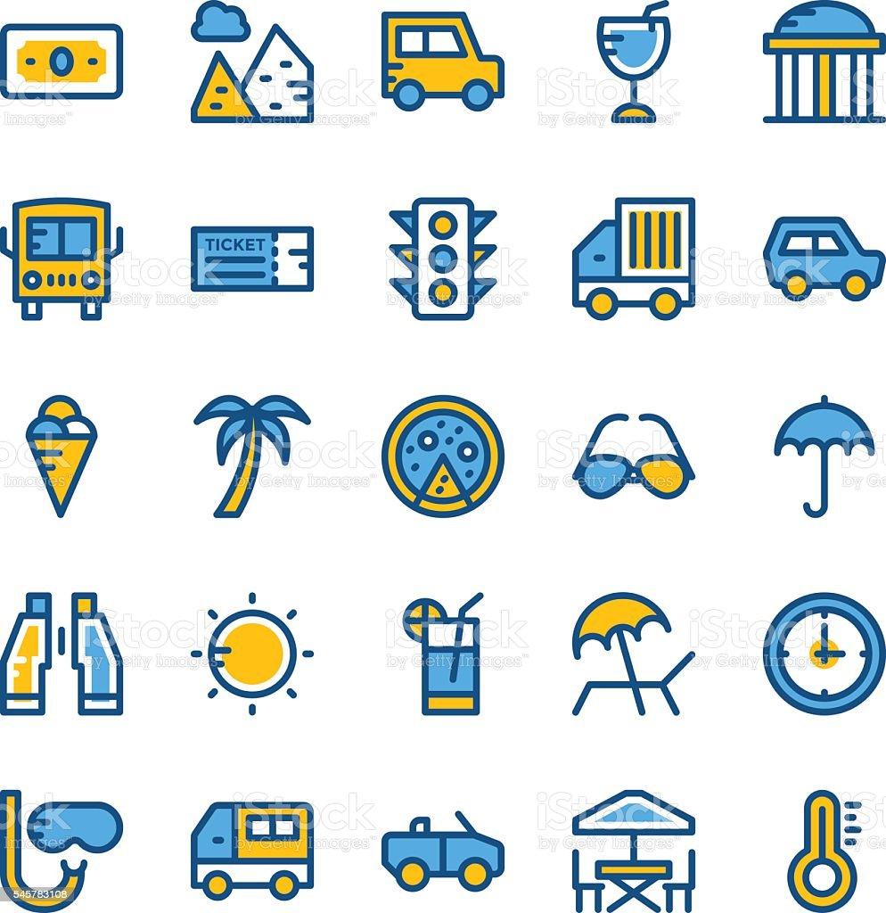 Travel Vector Icons 1 vector art illustration