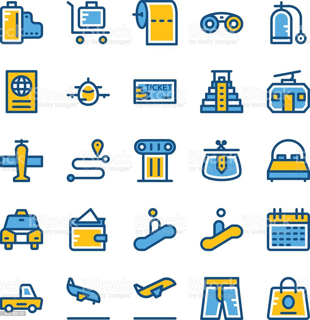 Travel Vector Icons 3 vector art illustration