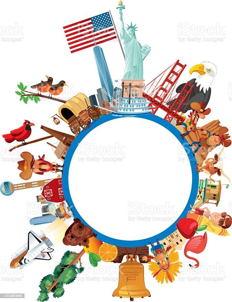 USA Travel royalty-free stock vector art