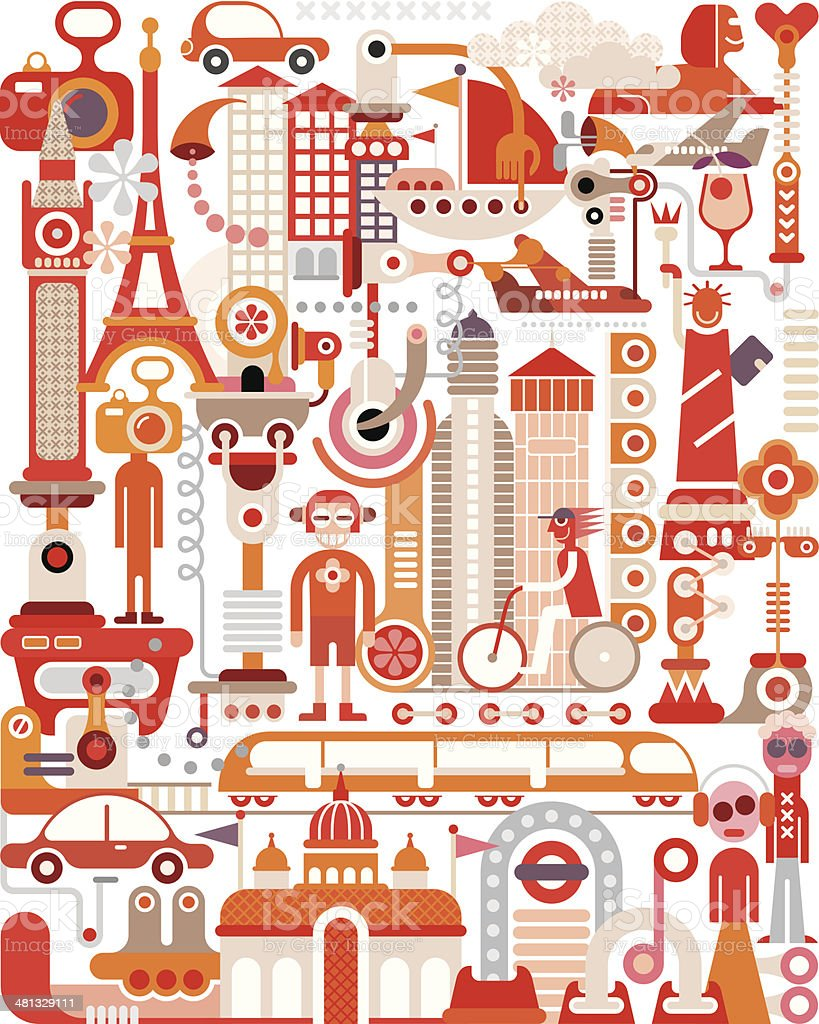 Travel vector art illustration