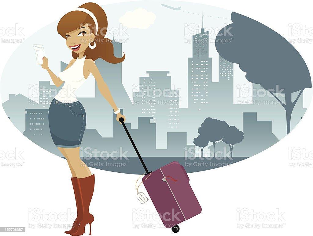 Traveler royalty-free stock vector art