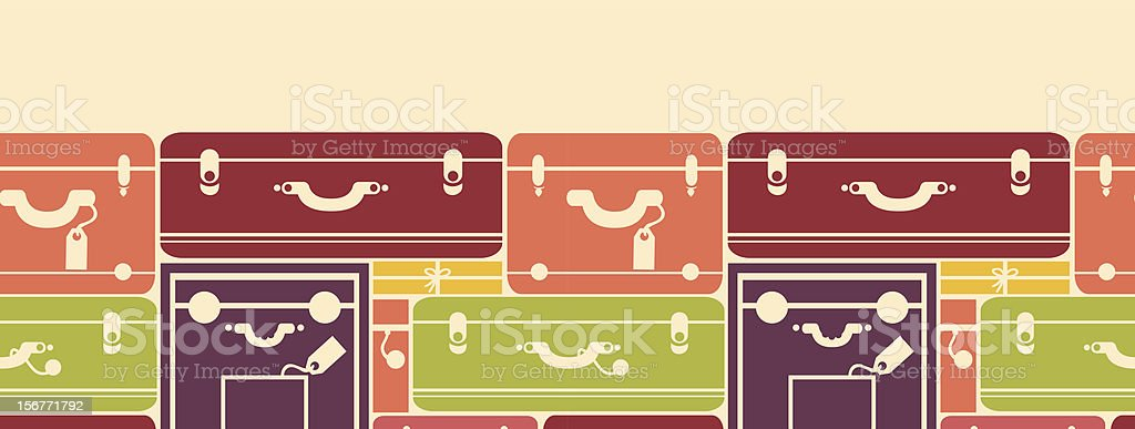Traveling Bags Luggage Horizontal Seamless Pattern royalty-free stock vector art