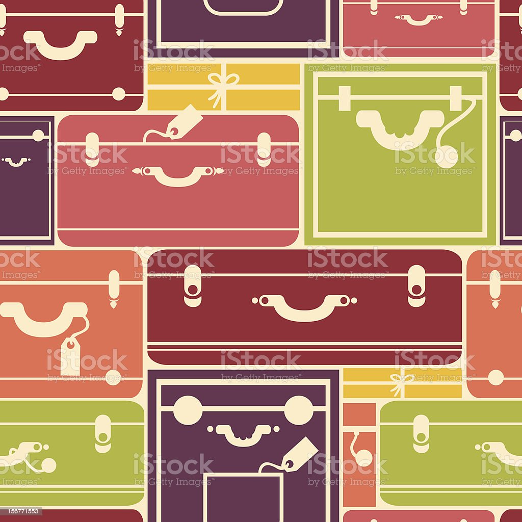 Traveling Bags Luggage Seamless Pattern royalty-free stock vector art