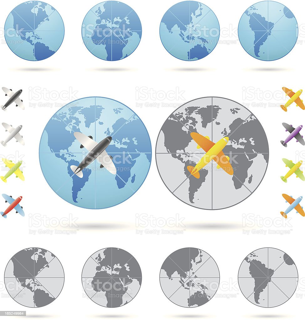 Traveling Series Airplane royalty-free stock vector art