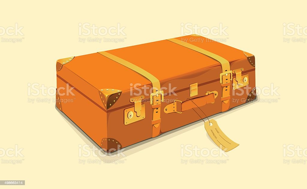 Traveling Suitcase vector art illustration