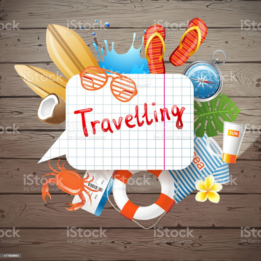 Travelling background royalty-free stock vector art