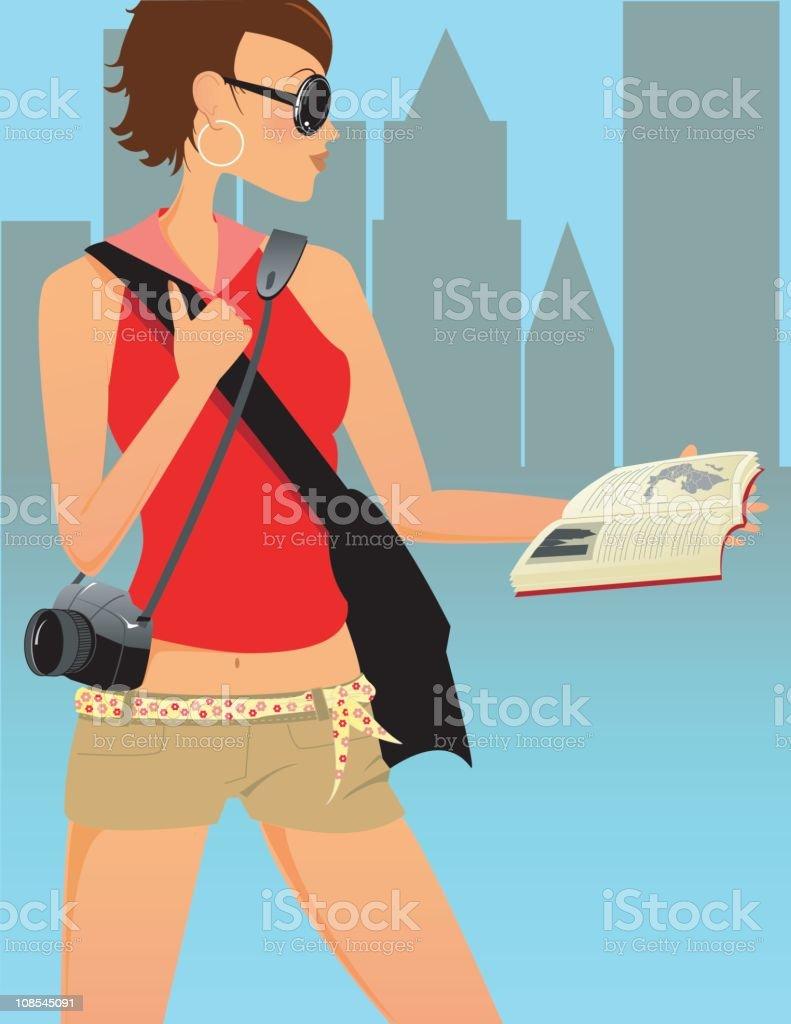 Travelling Girl royalty-free stock vector art