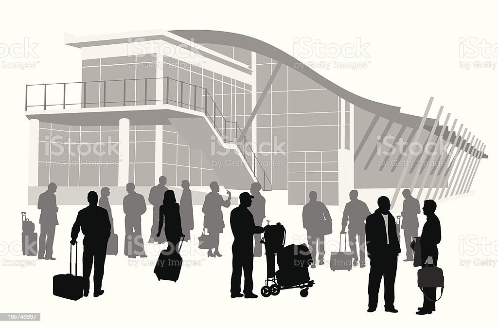 Travelling Vector Silhouette royalty-free stock vector art