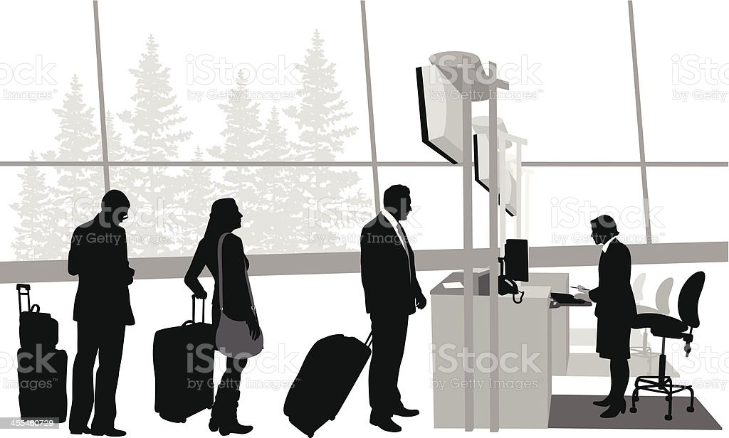 Travelling? Vector Silhouette vector art illustration