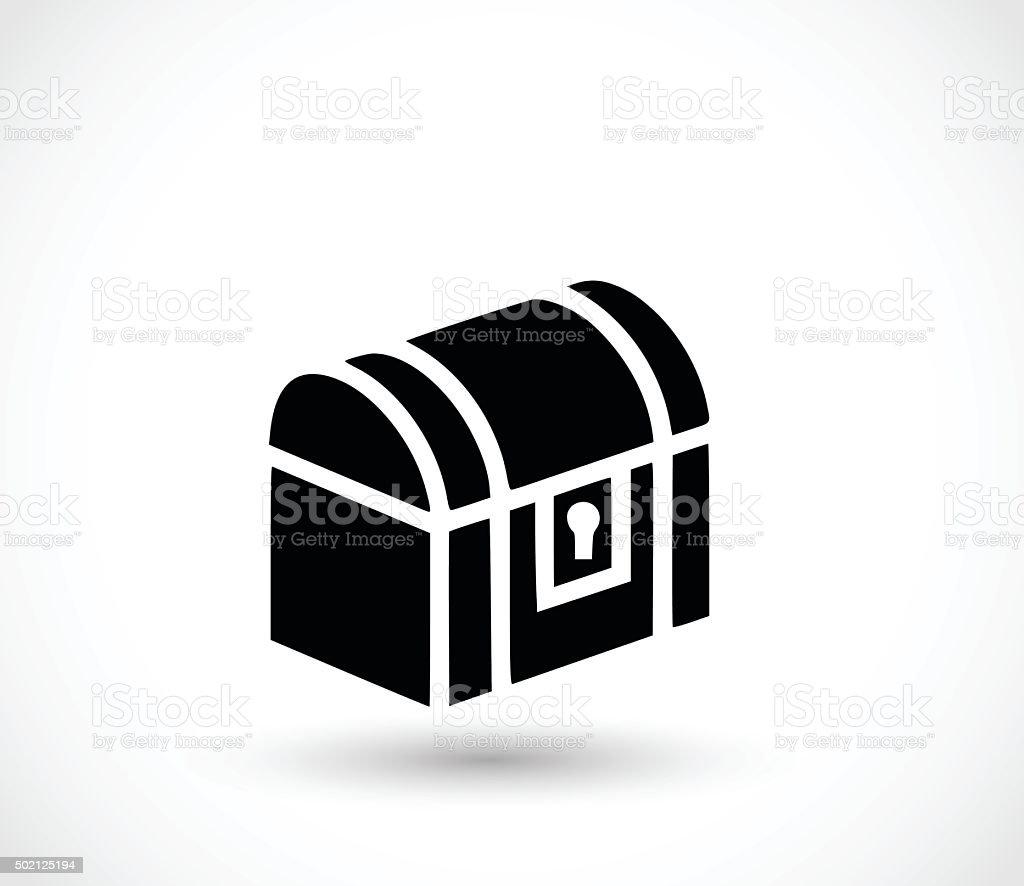 Treasure chest icon vector illustration vector art illustration