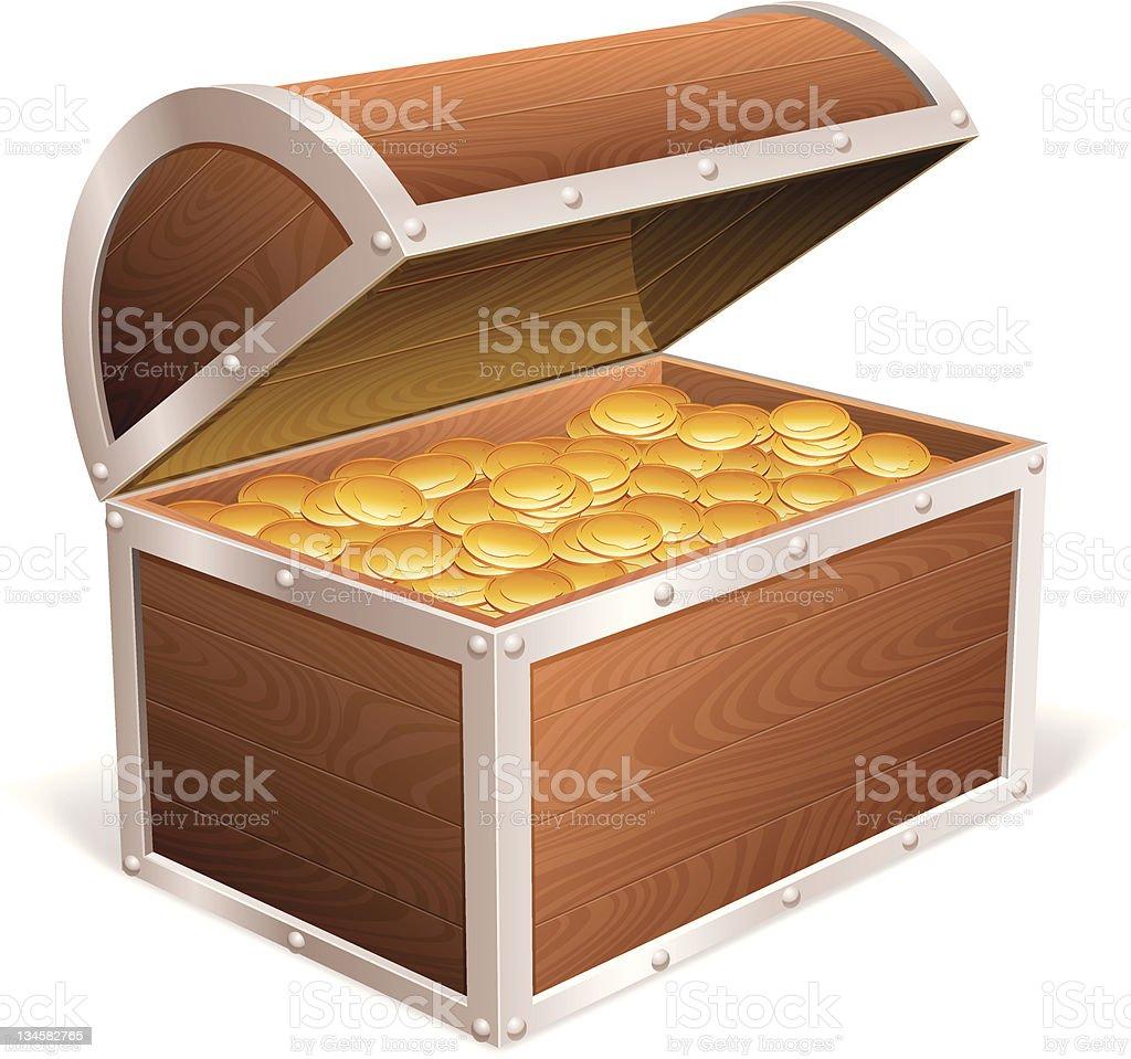 Treasure chest. royalty-free stock vector art