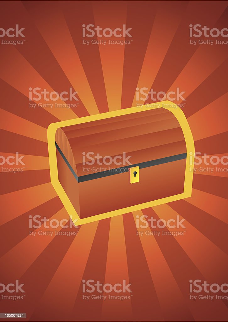 Treasure chest royalty-free stock vector art