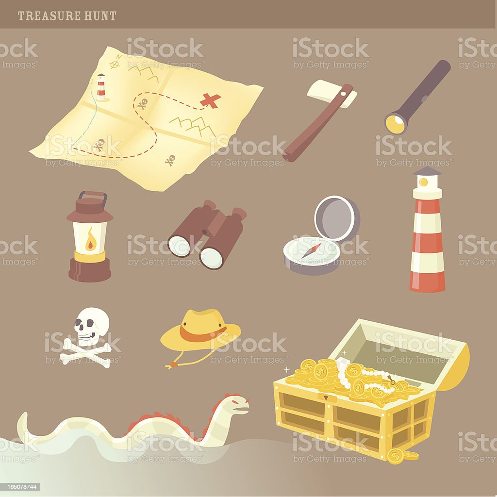 treasure hunt royalty-free stock vector art