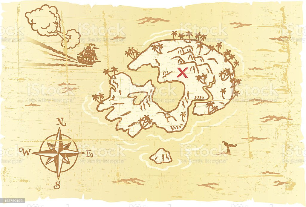 Treasure Map royalty-free stock vector art