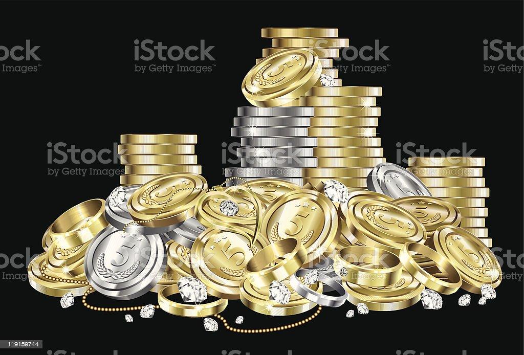 Treasure royalty-free stock vector art