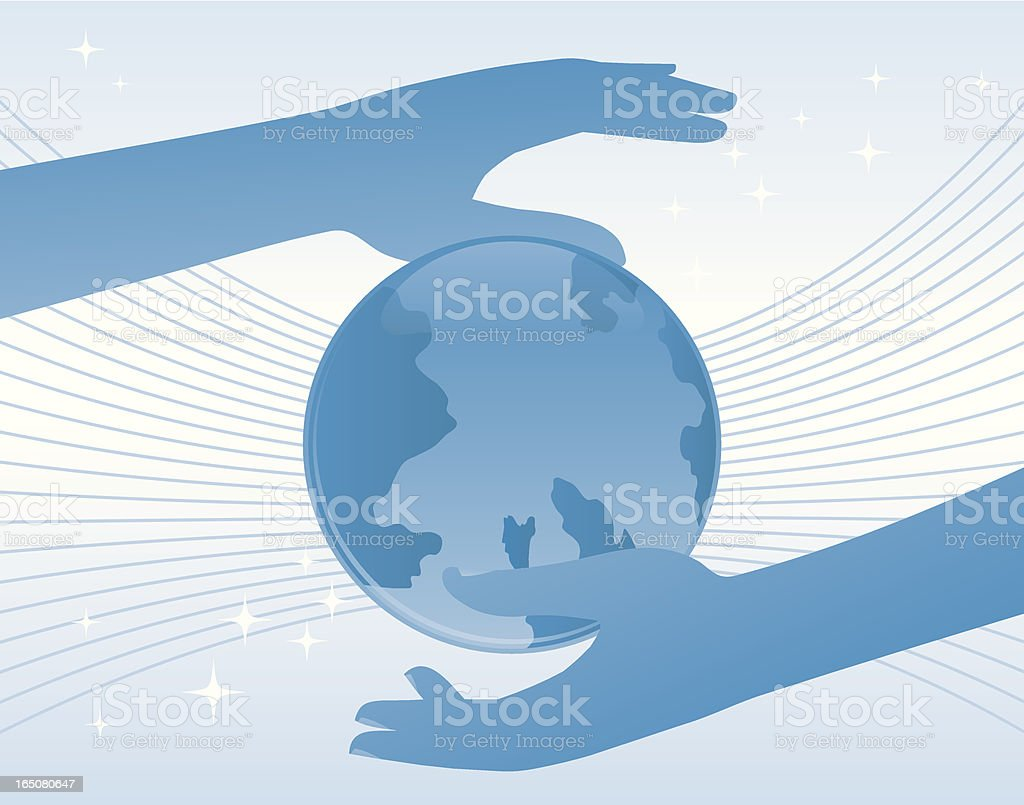 Treating hands. royalty-free stock vector art