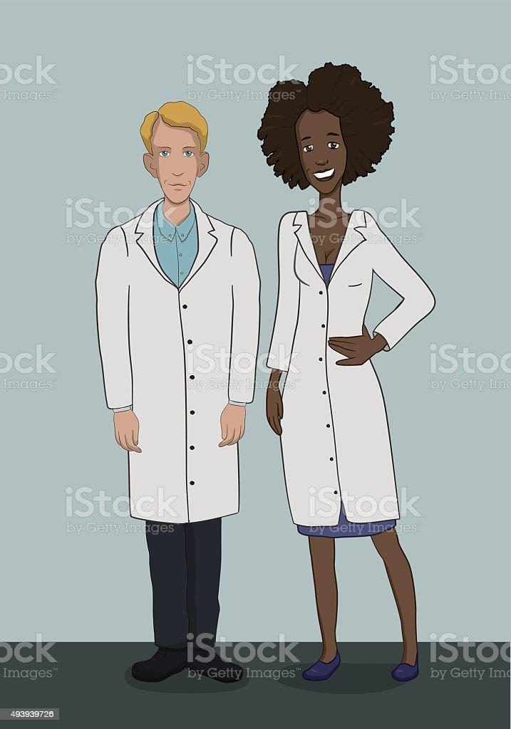Soin à l'hôpital de médecins-bilan stock vecteur libres de droits libre de droits