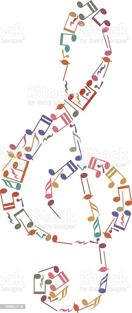 Treble clef royalty-free stock vector art