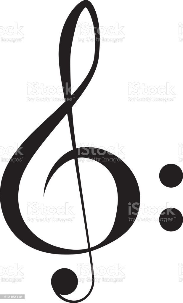 Treble Clef vector vector art illustration