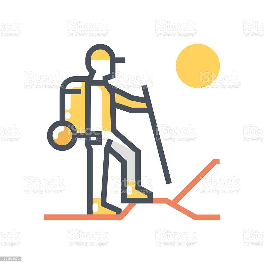 Trecking icon vector art illustration