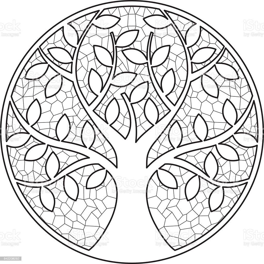 Tree 1 vector art illustration