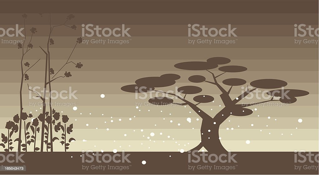 tree and grassland royalty-free stock vector art