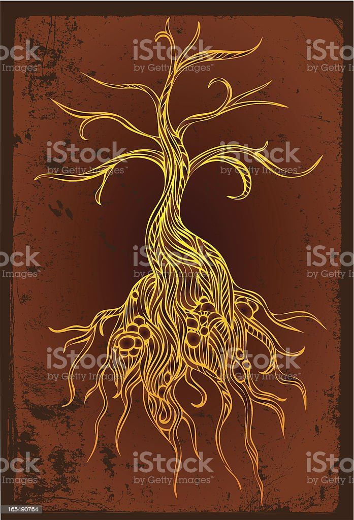 tree at night royalty-free stock vector art