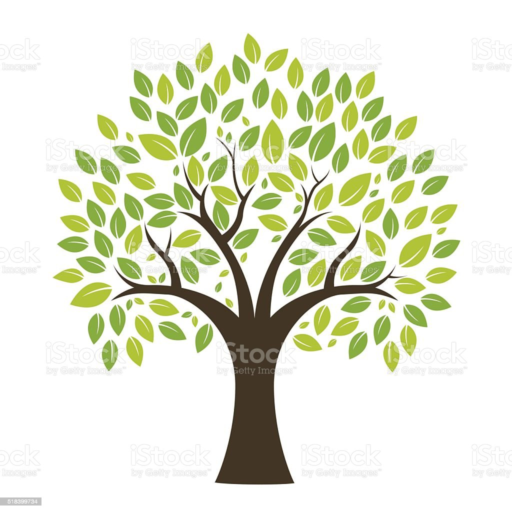 Tree Background vector art illustration