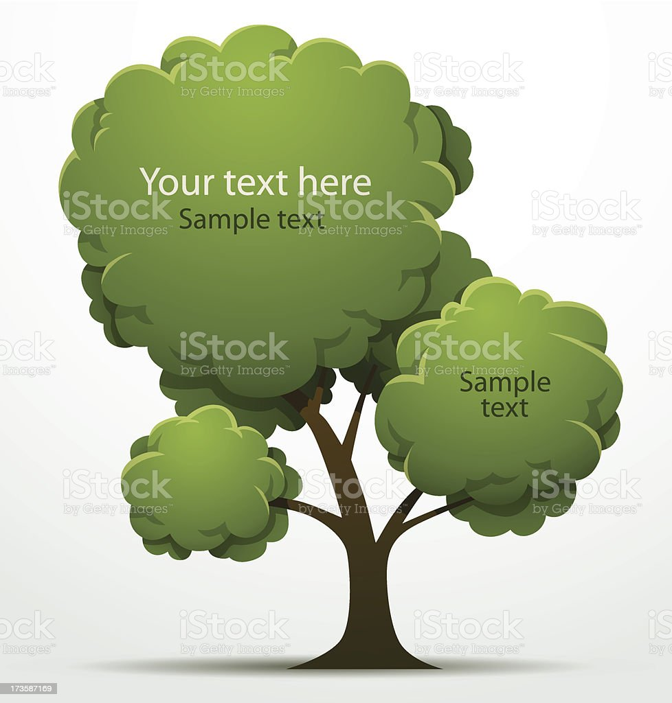 Tree banner round big royalty-free stock vector art