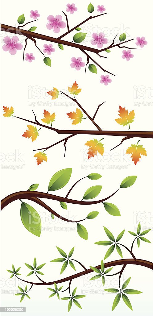 Tree Branches royalty-free stock vector art