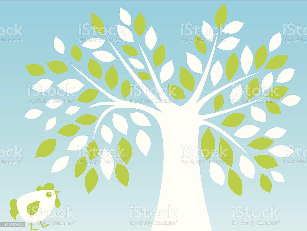 Tree & Chicken royalty-free stock vector art