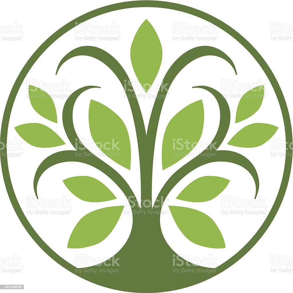 Tree circle icon royalty-free stock vector art