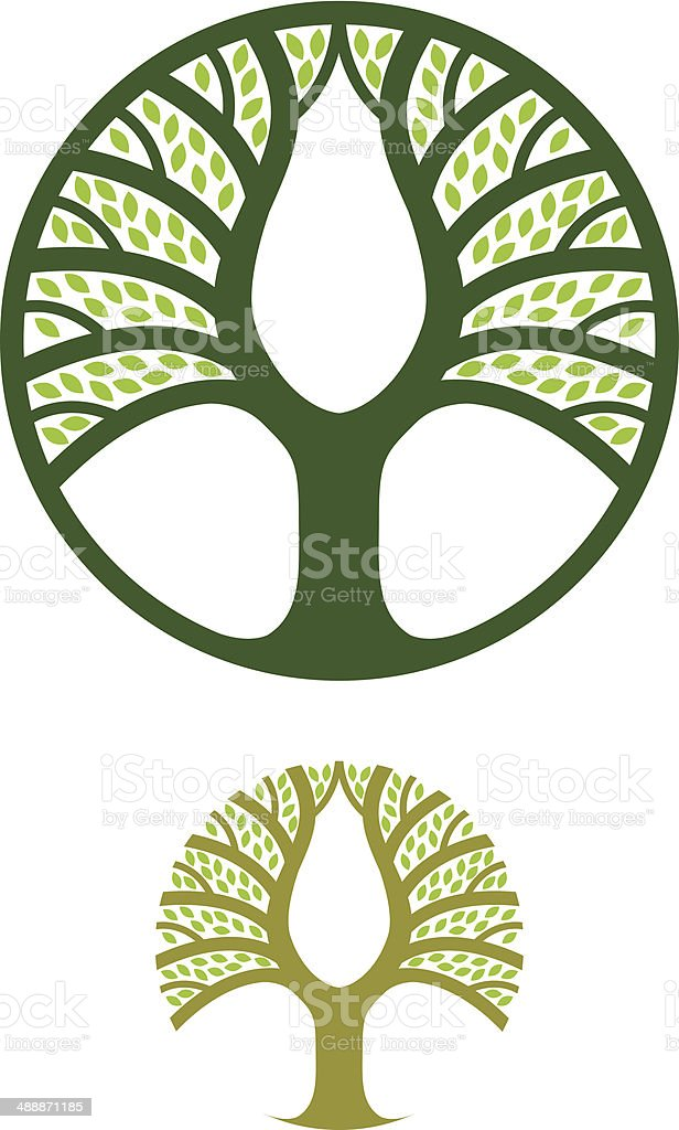 Tree circle royalty-free stock vector art