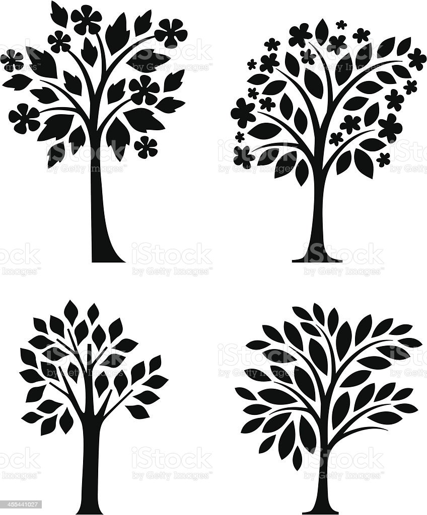 Tree collection royalty-free stock vector art